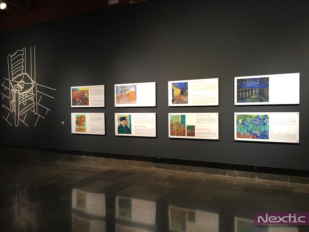 La exposición recorre la obra pictórica de Van Gogh.