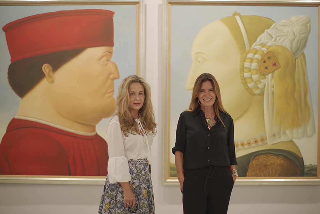 Cristina Carrillo de Albornoz y Lina Botero