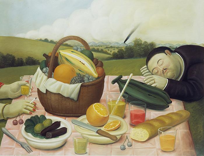 Fernando Botero_Picnic, 1989_oleo sobre lienzo