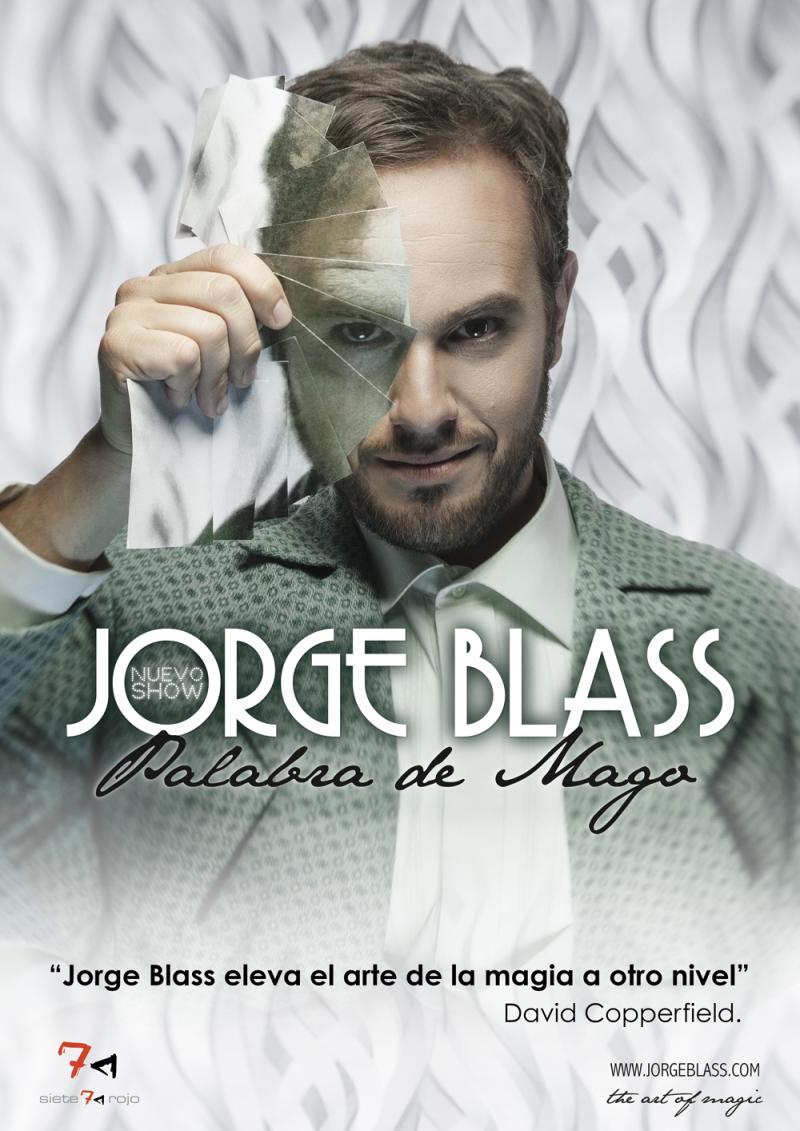 Cartel del espectáculo Palabra de Mago de Jorge Blass