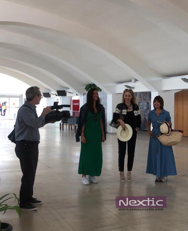 De izquierda a derecha: Andrés Vázquez, Verónica Hidalgo, Miriam Victoria y Naima Barcelona en Alicante Cruise Terminal.