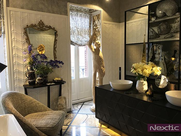 Baño diseñado por Erico Navazo con piezas de Villeroy & Boch en Casa Decor Madrid