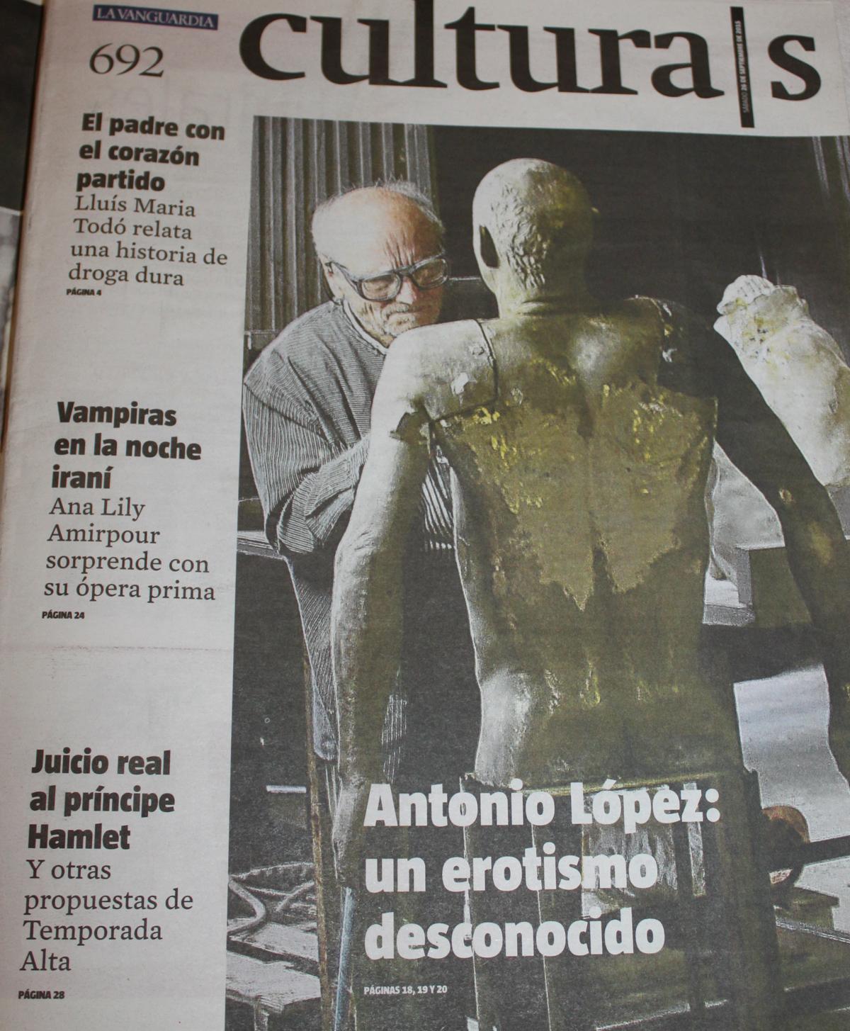 bj Portada Cultura Vanguardia 26 septiembre