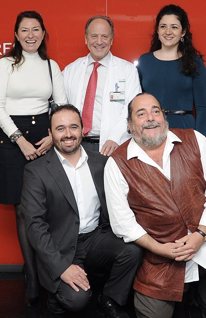 de pie Montse Marti, Pere Gascon y Maria Miro. arrodillados JOrdi Galan y Aldo mariotti