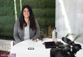 Montse Herrera, mediadora y coach terapéutica, en la terraza del Hotel Claris de Barcelona